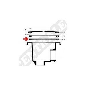 Procopi 798407 - 2 Joints bonde de fond Cofies N.M. (Ø ext. 188 mm)