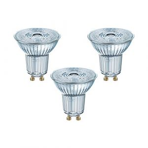 Osram 4058075818415 - Spots LED - Culot GU10 - 4,3W Equivalent 50W - Blanc froid 4000K - Lot de 3