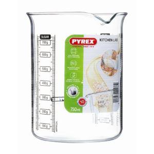 Pyrex Kitchen Lab - Doseur en verre à graduations (0,75 L)