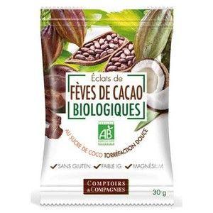 Comptoirs et Compagnies Eclats Fèves de Cacao Bio Torrefiés - 30g