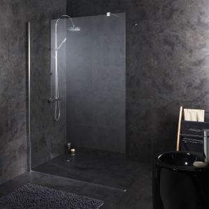Planetebain Paroi de douche fixe haut de gamme tout en inox (140 x 195 cm)