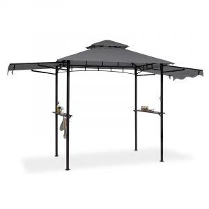 Image de Blumfeldt Steakhouse Wings Pavillon De Jardin, Abri Pour Barbecue 244 X 260 X 152cm, 160 G/M², Polyester, Acier, Gris