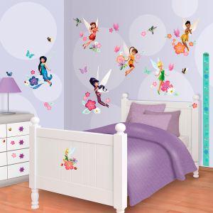 Walltastic 77 stickers Fée Clochette Disney Fairies Walltastic