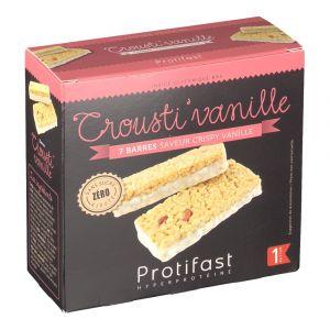 Protifast Barre hyperprotéinée crousti-vanille - 7 barres