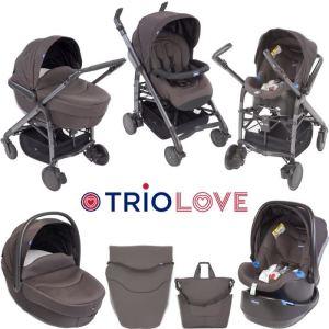 Chicco Love - Combiné Trio avec poussette, nacelle et siège auto groupe 0+