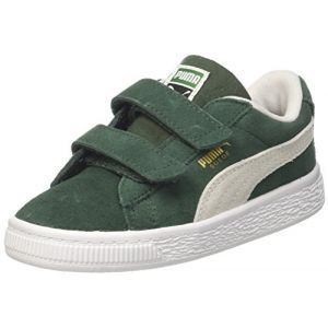 Puma Suede Classic V Inf, Sneakers Basses Fille, Vert (Pineneedle White), 27 EU