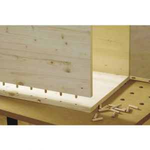 Wolfcraft Tourillons en bois (10 - 40 - 19 à 30 - 120) - Ø mm : 10 - Long. mm : 40 - Pour planche ép. mm : 19 Ø 30 - Nb de pièces par boîte : 120