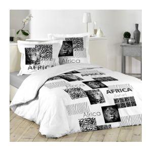 La Maison d'Amélie Afrique - Parure de couette 100% coton (220 x 240 cm)