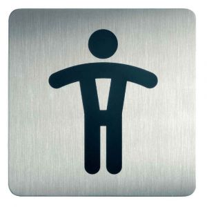"""Durable 4954-23 - Pictogramme """"Toilettes Messieurs"""", coloris silver"""