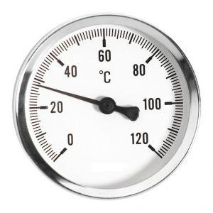 Ferro 100 mm 0 - 120c jauge de température d'huile de l'eau thermo 1/2 pouce entrée arrière thermomètre
