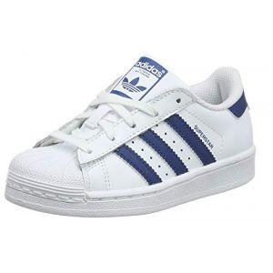 Adidas Superstar C, Chaussures de Gymnastique Mixte Enfant, Blanc (Ftwr White/Legend Marine), 28 EU
