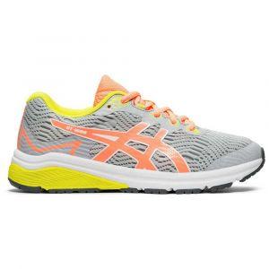 Asics Chaussures running Gt 1000 8 Gs - Piedmont Grey / Sun Coral - Taille EU 33 1/2