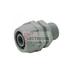 Legrand Raccord mâle droit Universale pour conduit PVC diamètre intérieur 51mm et 52mm ISO50 (382997)