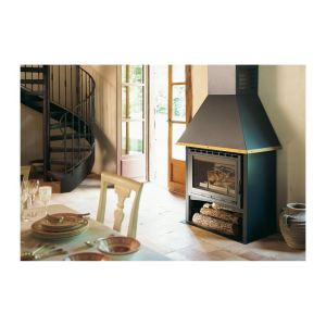 Deville C07335 - Poêle-cheminée prête à poser Cheminette
