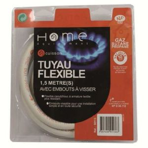 Home equipement 90113 - Tuyau de gaz flexible butane 1,5m (10 ans)