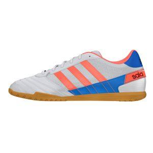 Adidas Chaussures de futsal Super Sala Blanc / Orange - Taille 43 y 1/3