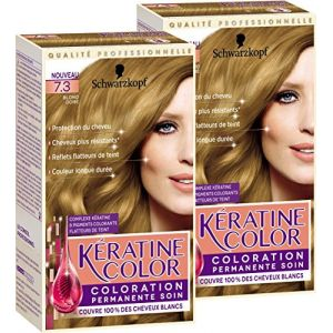Schwarzkopf Keratine color - Coloration permanente soin, Blond doré 7.3