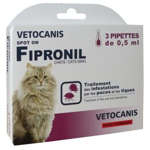 Vetocanis Pipettes Spot on, Anti-puces et Anti-tiques - Pour chat