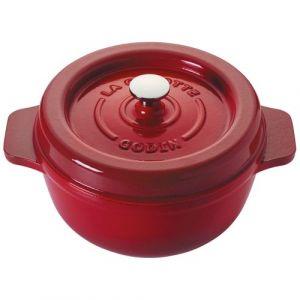 Godin Cocotte ronde en émail - D: 25cm - rubis