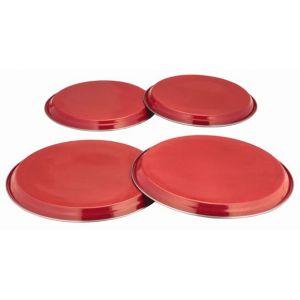 Zodiac Lot de 4 caches pour plaques de cuisson Rouge