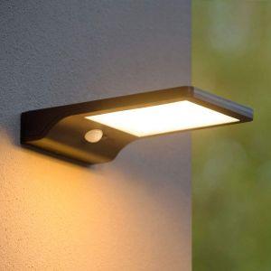 Lucide BASIC-Applique d'extérieur LED solaire L19cm Noir