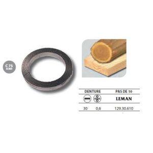 Leman 129.30.610 - 1 Rouleau de 50 mètres Lame scie à ruban en acier C75 30x0,6 pas de 10