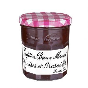 Image de Bonne Maman Confiture extra fraises et groseilles - Le bocal de 370g