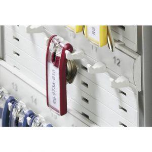 Durable 1957-03 - Sachet de 6 porte-clés KEY CLIP, coloris rouge
