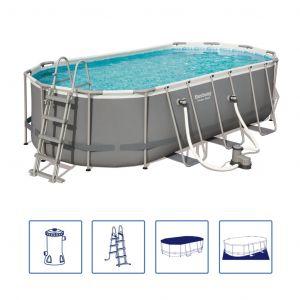 Bestway Ensemble de piscine Power Steel Ovale 56710
