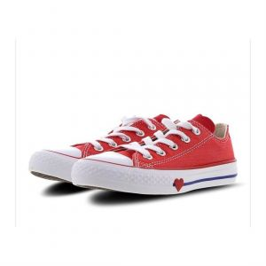 Converse Chuck Taylor All Stars, Sneakers Basses Mixte Enfant, Rouge