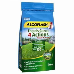 Algoflash Engrais gazon 4 Actions 14Kg