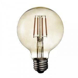 Ampoule LED rétro Edison Globe (D.9,5cm) filament vertical 4W (E27)