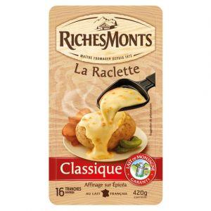 Riches monts Fromage La Raclette Classique - La barquette de 16 tranches, 420g