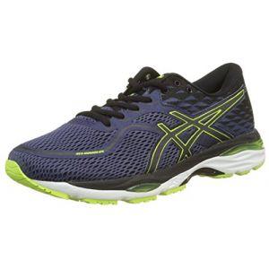 Asics Gel-Cumulus 19, Chaussures de Running Compétition Homme, Bleu (Indigo Blue/Black/Safety Yellow 4990), 46.5 EU