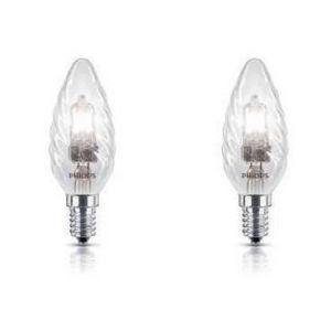 Philips 925647244205 - Ampoule Eco-Halogène Flamme Torsadée Culot E14 42 Watts consommés (Equivalence incandescence 55W)