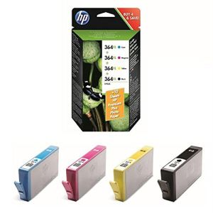 HP SM596EE - Value Pack de 4 cartouches d'encre 364XL (noire, jaune, magenta et cyan) avec papier 10x15 (10 feuilles)