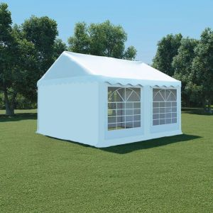 VidaXL Chapiteau de jardin PVC 4 x m Blanc