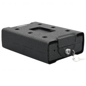 VidaXL Coffre-fort de voiture Noir 21,8x16x7 cm Acier