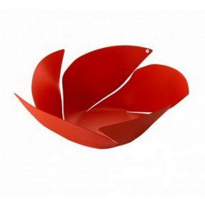Alessi Corbeille Twist Again / Ø 29 cm rouge en métal