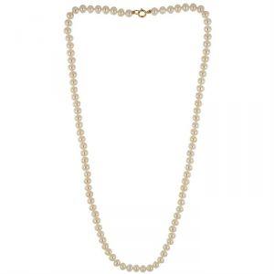 Rêve de diamants CDNCPOR207 - Collier en véritables perles d'eau douce et or jaune 750/1000