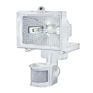 Brennenstuhl Projecteur halogène H 150 IP44 avec détecteur de mouvements infrarouge 120W 2216lm blanc Catégorie rendement énergétique C