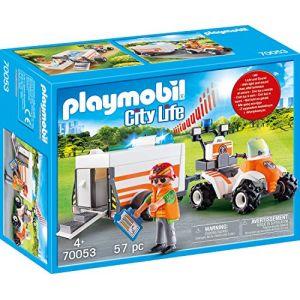 Playmobil 70053 - City Life Les Secouristes - Quad et remorque de secours - 2020