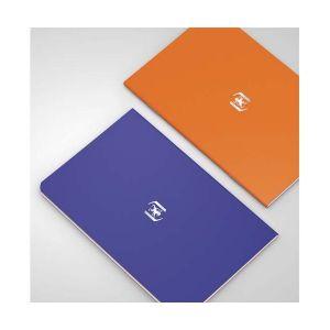 Oxford Pocket Notes agrafé - couverture carte - 9 x 14 cm - 48 pages - ligné 6 mm - bleu roy et orange - lot de 2