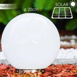 Hofstein Boule lumineuse LED solaire Nassau qui trouvera aisément sa place dans votre jardin - Luminaire extérieur solaire au design contemporain - Lampe extérieure jardin équipée d'un détecteur crépusculaire