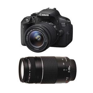 Canon EOS 700D (avec 2 objectifs 18-55mm et 75-300mm)