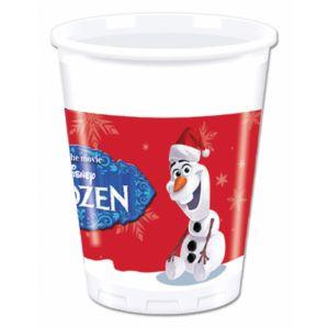 8 gobelets en plastique Olaf Christmas