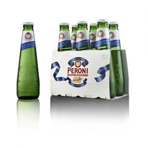 Peroni Bière italienne, Nastro Azzuro - Le pack de 6 bouteilles de 25cl