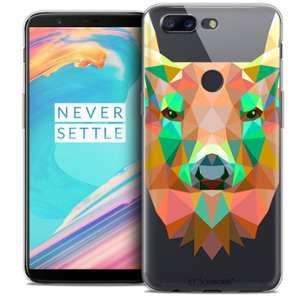 CaseInk Coque Gel OnePlus 5T (6 ) Extra Fine Polygon Animals - Cerf