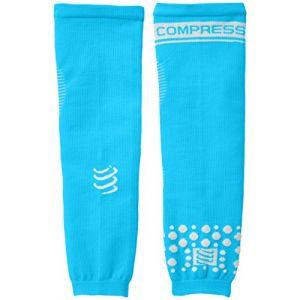 Compressport Arm Force Manchon de compression Bleu Fluo FR : M (Taille Fabricant : T2)
