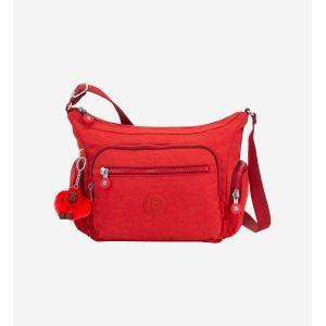 Kipling Gabbie S, Sacs bandoulière femme, Rouge (Active Red)